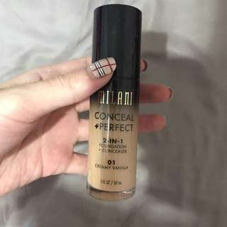 Milani cosmetics conceal and perfect foundation