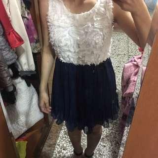 立體花洋裝
