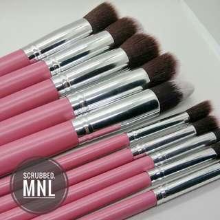 10pc BIG kabuki Brush Set (Pink)