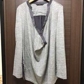 🚚 U're灰色羊毛罩衫