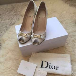 Authentic Christian Dior high heels open toe shoes