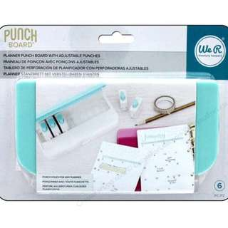 We R Memory Keepers - Planner Punch Board Bundle- With Discs & Spiral Punch Inserts