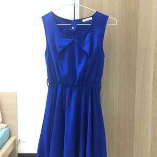 正韓寶藍色小洋裝