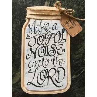 Customizable Bible Verses - Mason jar