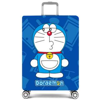 Doraemon blue luggage cover