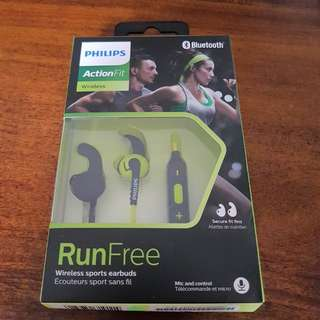 PHILIPS ActionFit Sports Wireless Bluetooth Earbuds SHQ6500CL