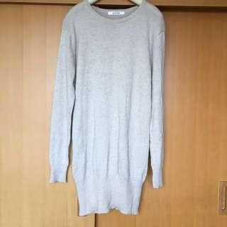 日本杏色長袖冷衫 連身裙 Knitting Sweater