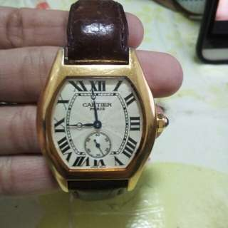 Authentic Cartier Gold Watch