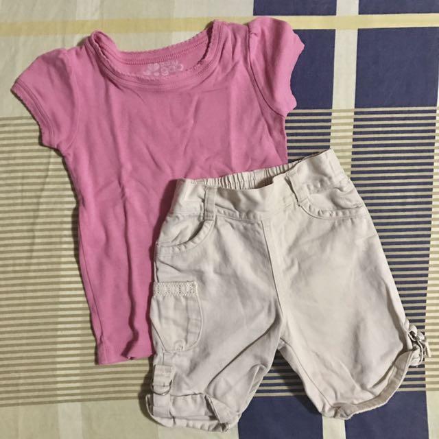 24 mos. - Baby Gap Shirt + Shorts