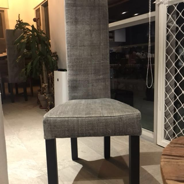 6 pieces dining chairs high-back (sold as a set)