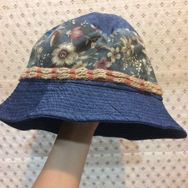 花花復古系漁夫帽