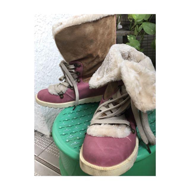 冬季毛茸茸雪靴