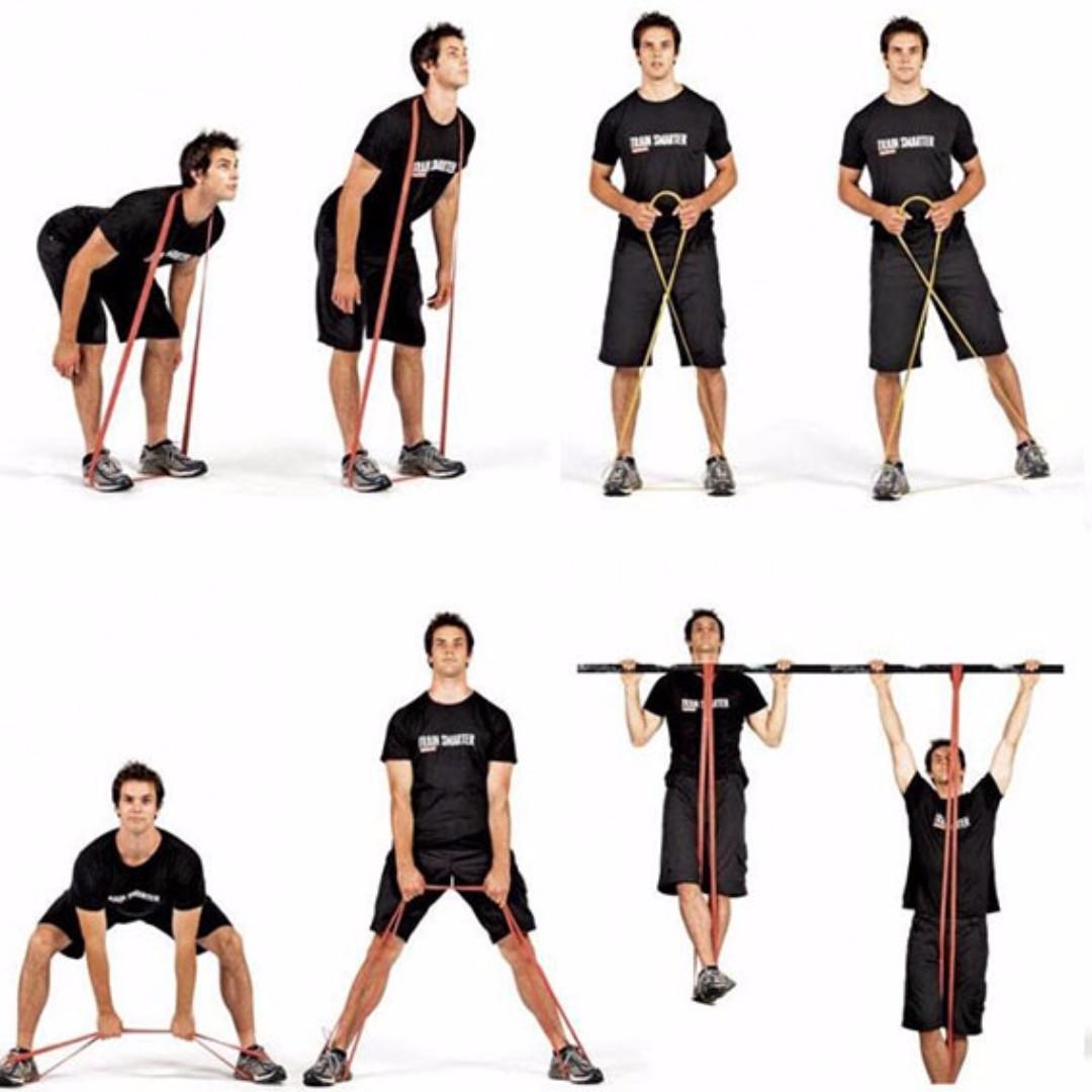彈力阻力帶長款健身拉力瑜珈帶力量訓練阻力運動阻力圈