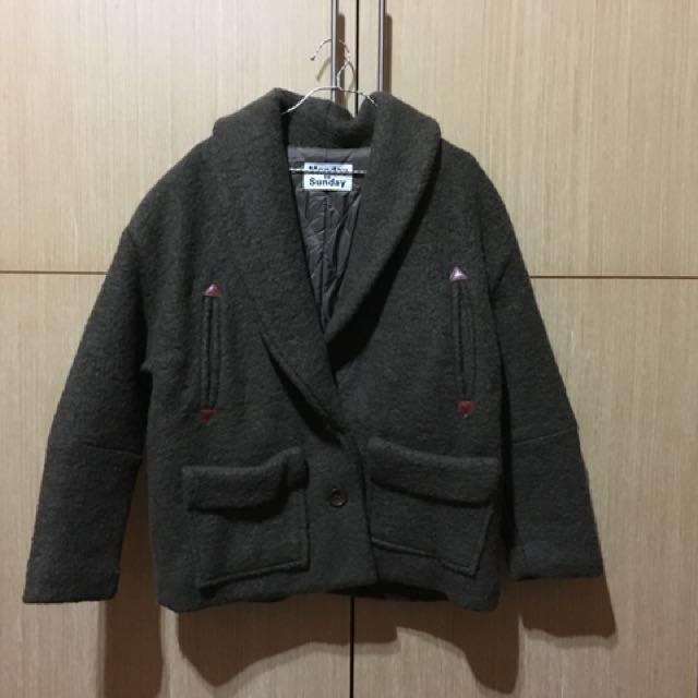 墨綠大衣外套