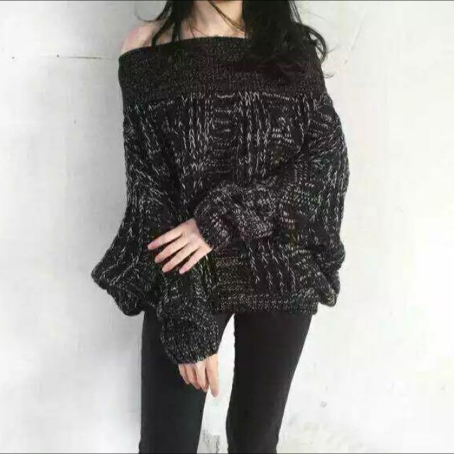 最美❤️一字麻花針織毛衣