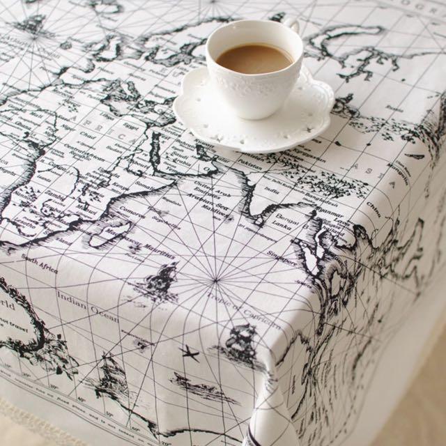 拍照需要地圖桌布