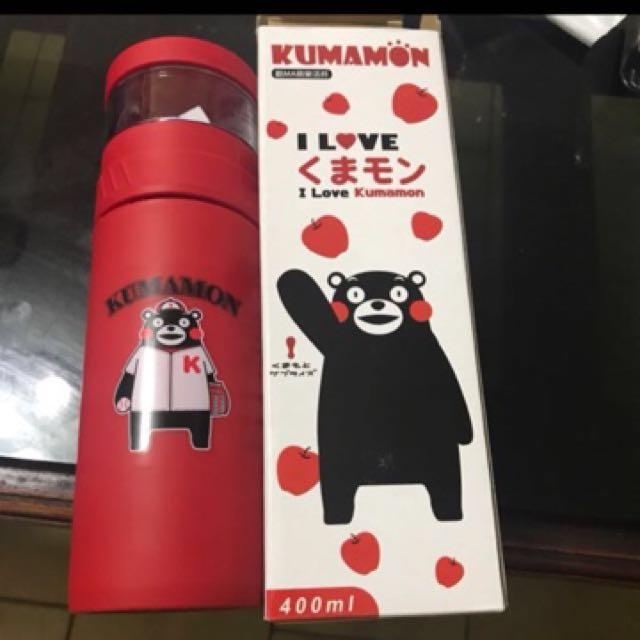 熊本熊 隨身泡茶玻璃瓶#幫你省運費