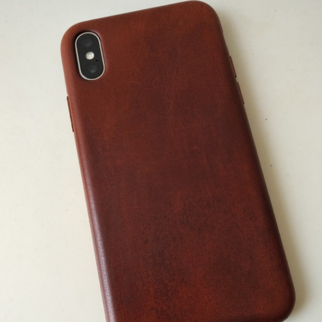wholesale dealer fb9f5 8e32a Aged iPhone X Saddle Brown Leather Case