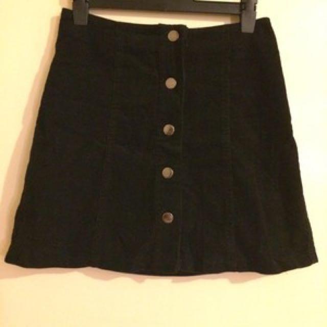 aline button skirt