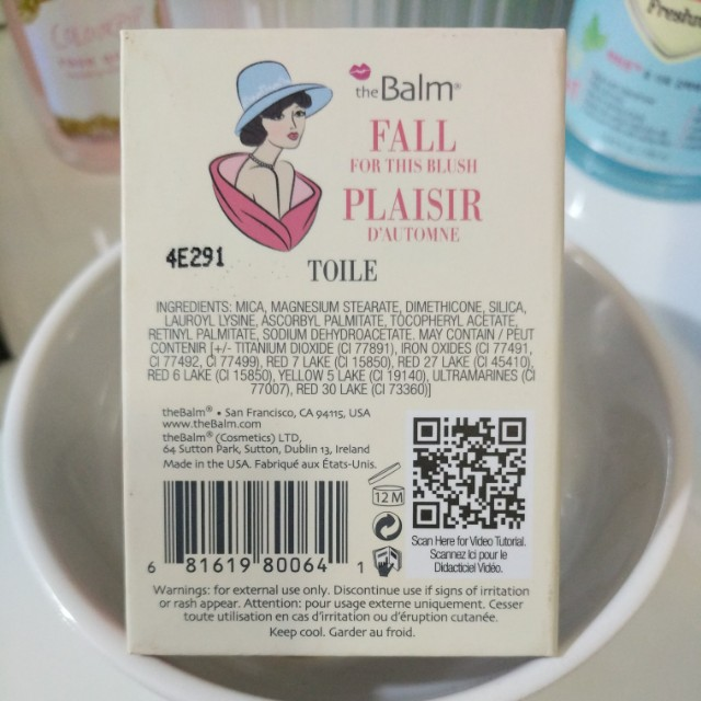 Authentic The Balm INSTAIN Blush Toile