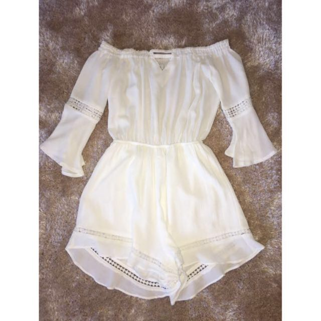 Ava White Playsuit - size 6