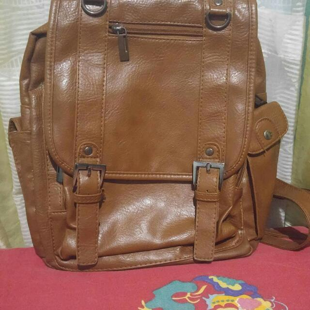 Back Pack Leather
