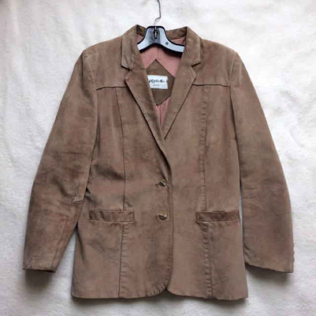 Bagatelle women suede leather blazer