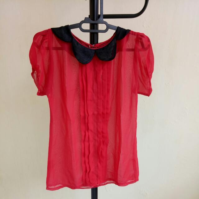 Baju Sifon Merah