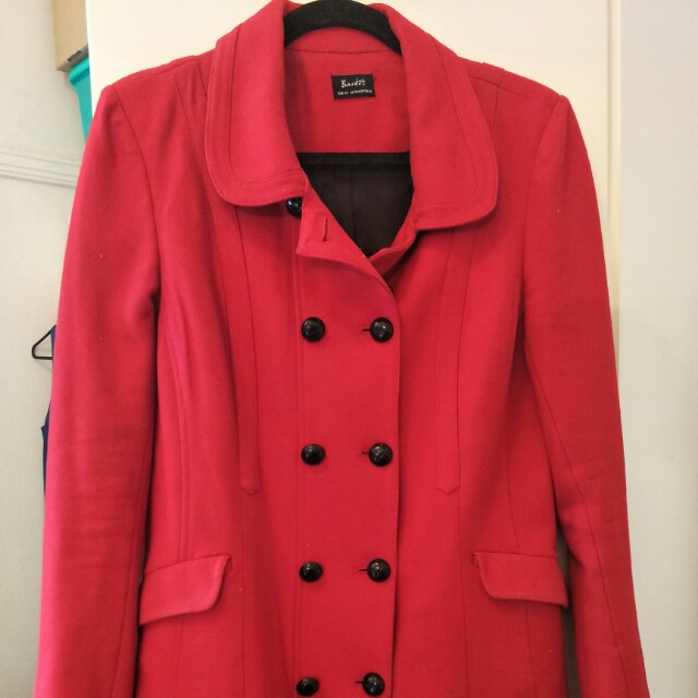 BARDOT red double breasted coat