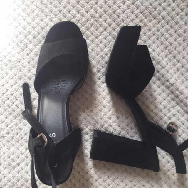 Betts black heels size 10