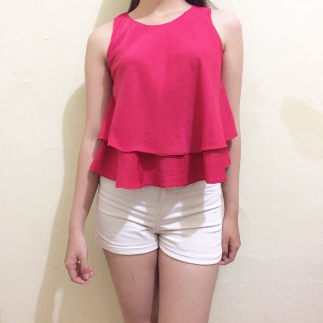 BKK RED FLARE TOP