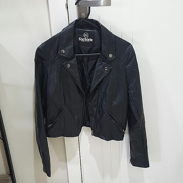 Black Bikers Jacket Size Xs