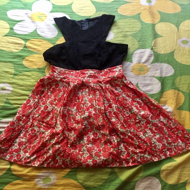 Black/Orange dress