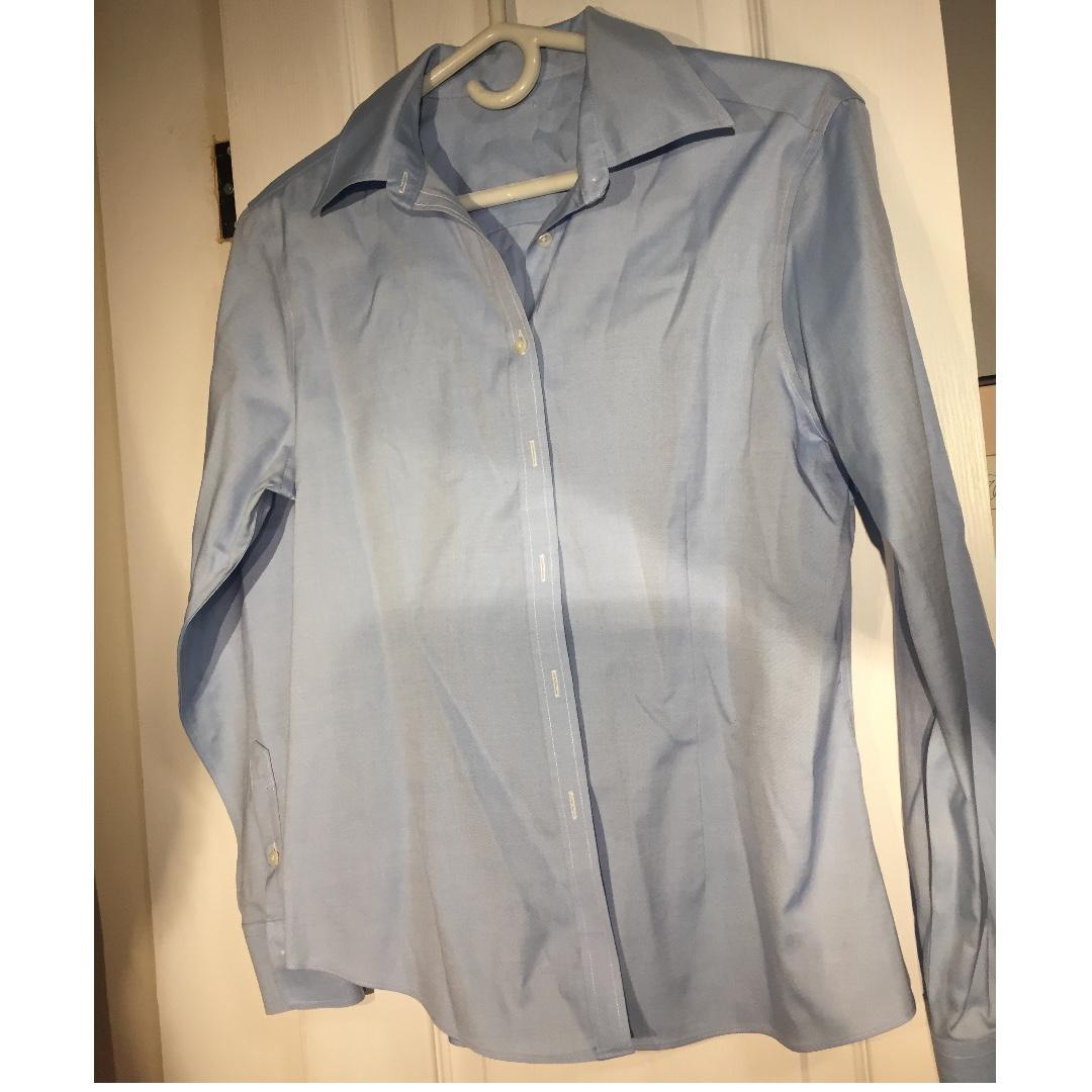 Blue Collared Shirt (Size Small-Medium)