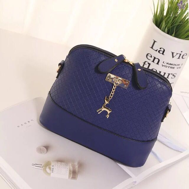 Blue Deer Shell Bag