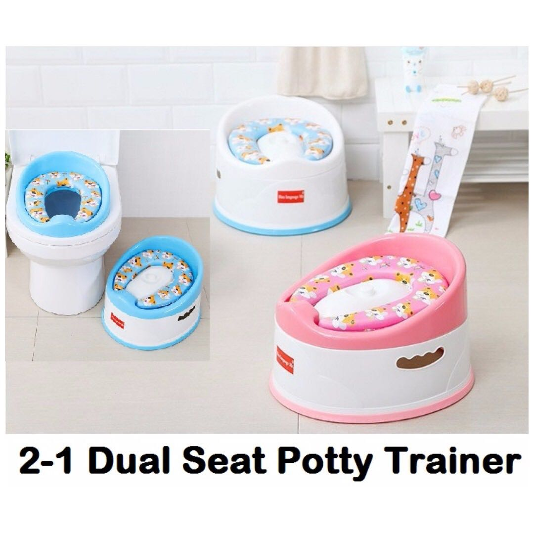 BN Children 2 In 1 Dual Potty Portable Toilet Bowl