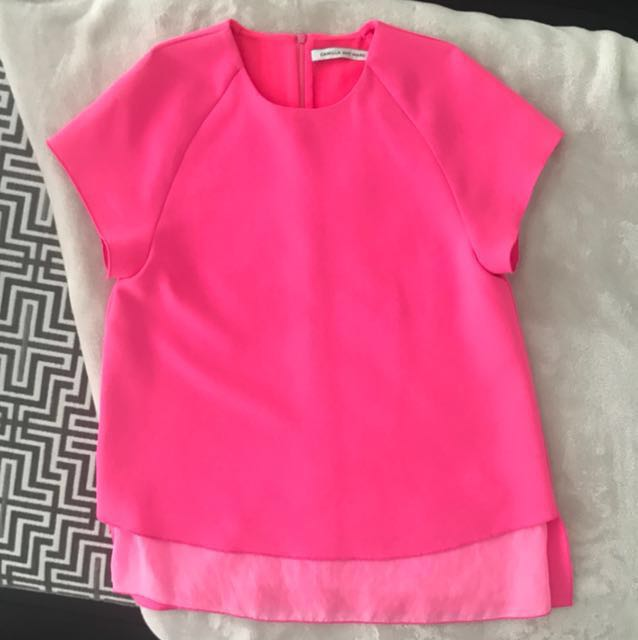 CAMILLA AND MARC fluoro UMBRA pink top