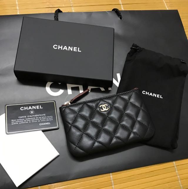 Chanel香奈兒 羊皮 零錢包 全新