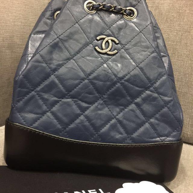 Chanel Garbrielle 後背包 藍黑拼(降價了)
