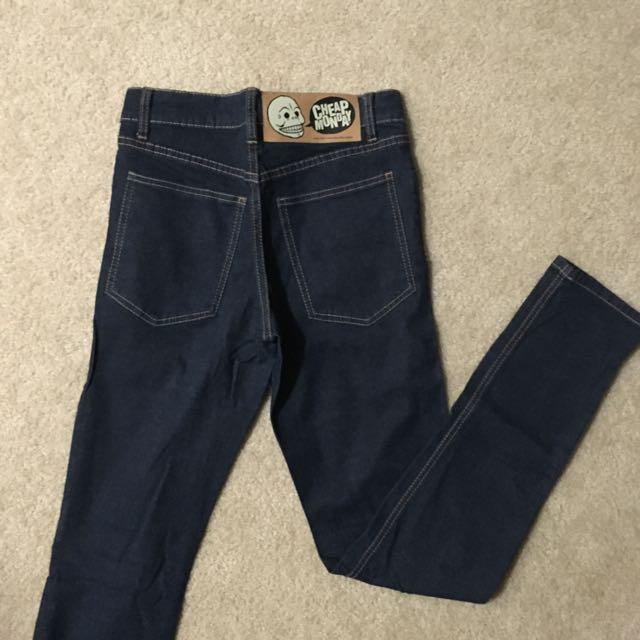 Cheap Monday blue jeans mid rise size 27/34