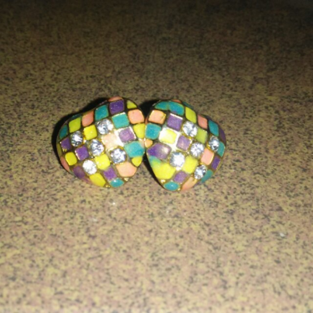 Colour cube earring
