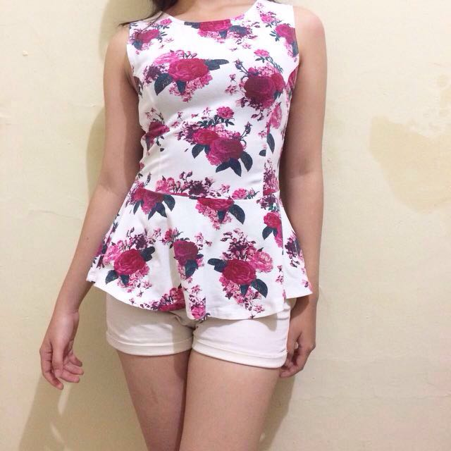 COTTON ON FLORAL PEPLUM