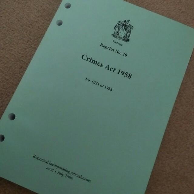 Crimes Act 1958 Vic