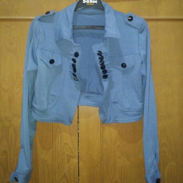 Crop Jacket Blue