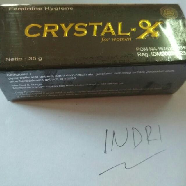 Crystal x original jaminan uang kembali