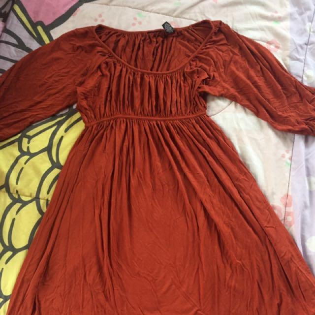 Dark Orange dress
