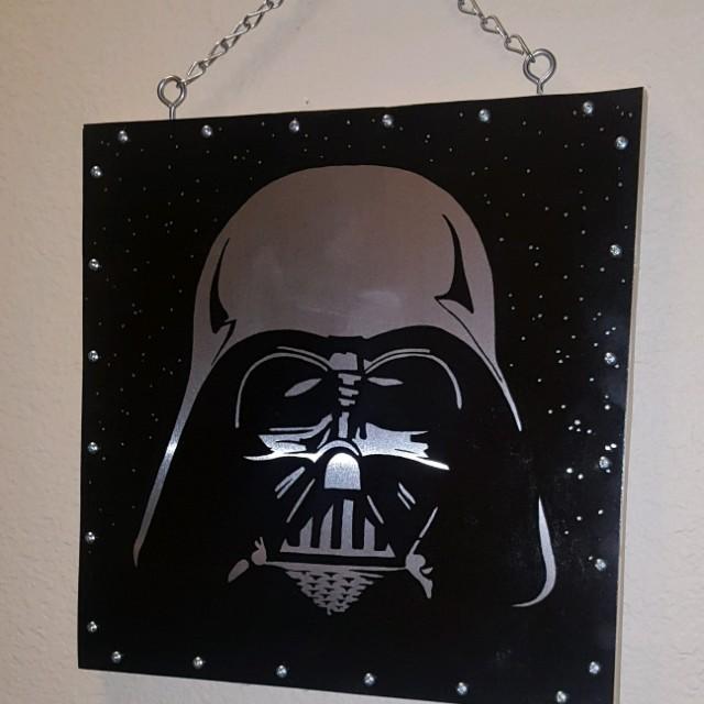 Darth Vader metal painting