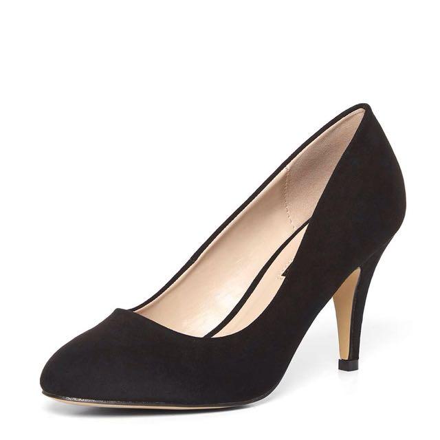 Dorothy Perkins Black Claudia Workwear Court Heels