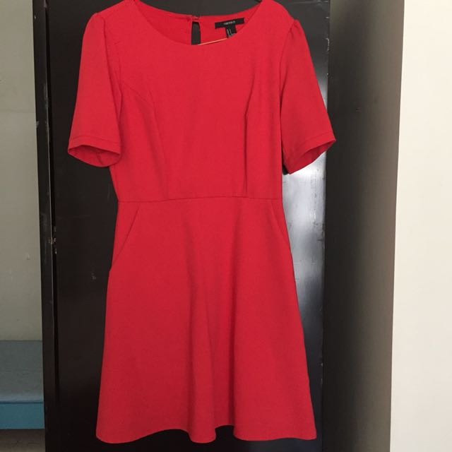 dress red forever 21 size s