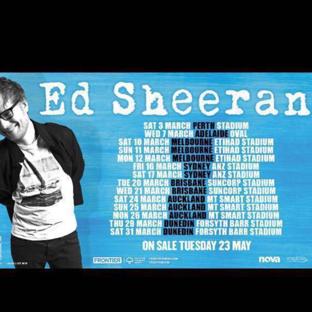 Ed Sheeran Sydney concert 17th March 2018 tickets